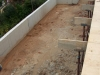 Rosheen, partially backfilled RC retaining wall